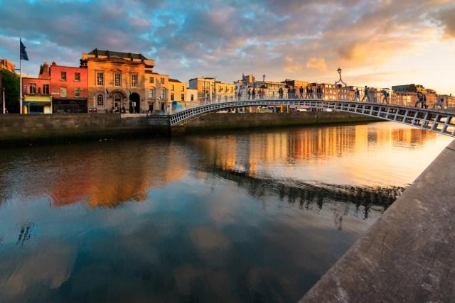 Sunset in Dublin, Ireland