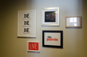 Come along with me! Right outside my stateroom door – some inspirational messages. Photo © 2014 Aaron Saunders