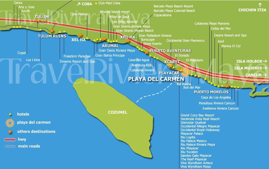 Riviera Maya Hotels Map 2018 Worlds Best Hotels