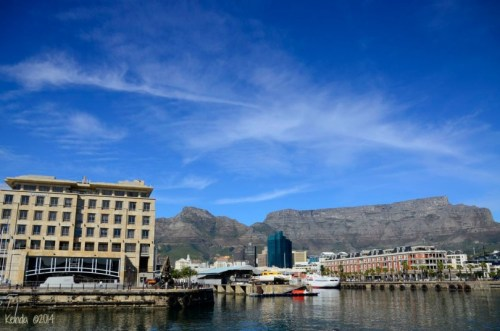 V&A Waterfront with Table Mountain in the background