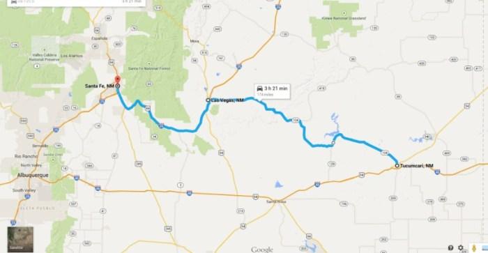 Tucumcari to Santa Fe.