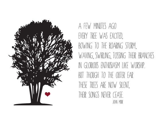 John Muir sure knew how to love on the earth.