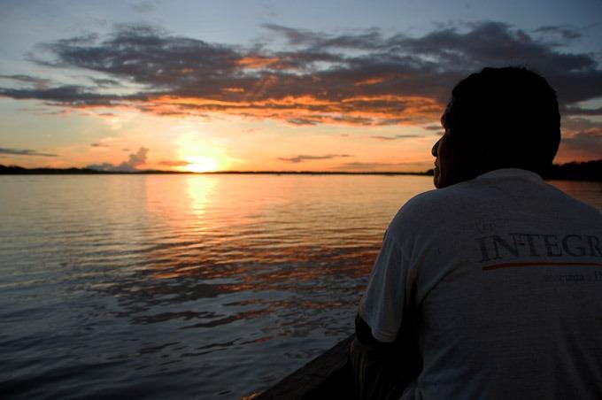 sunset peruvian amazon