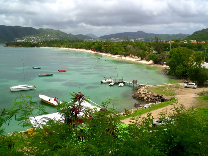 backpacking in martinique sainte anne