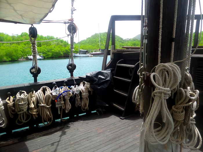 live on an old pirate ship martinique