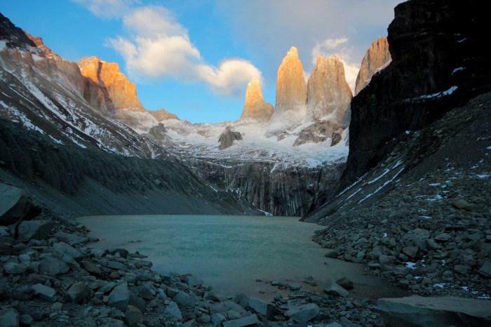 sunrise Torres del Paine W Trek