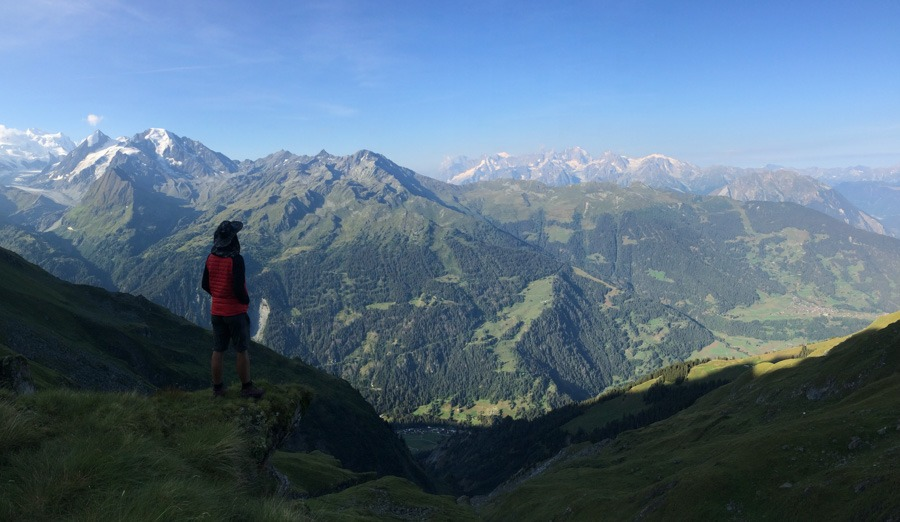 View to Mont Blanc from chamis route