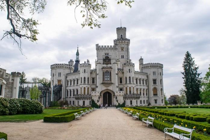 Castle Entrance, Chateau of Hluboka Czech Republic