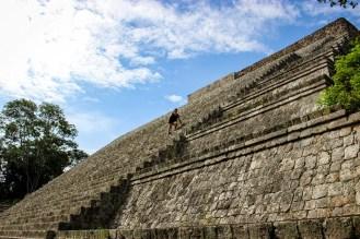 Besteigbare Hauptpyramide in Uxmal
