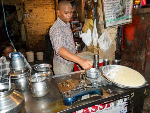Lassi Getränk Main Bazaar Delhi
