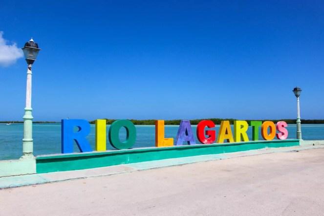 Rio Lagartos Buchstaben Yucatan