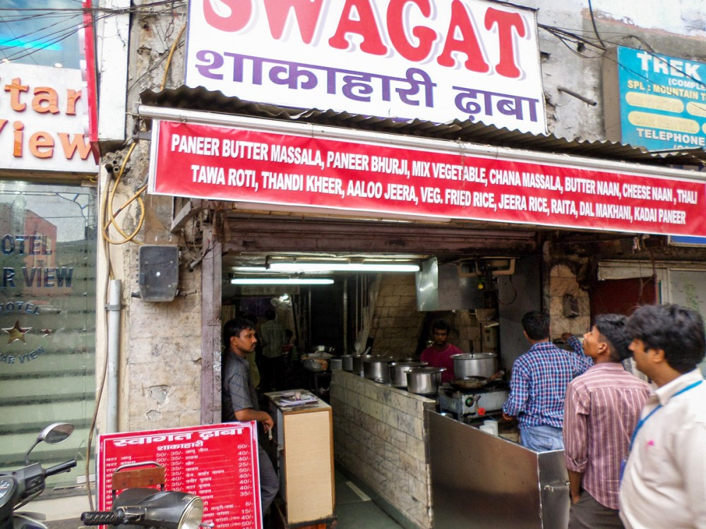 Swagat Dhaba Local Restaurant Main Bazaar Delhi