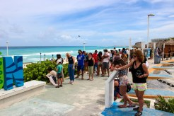 Warteschlange Cancun