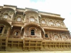 Geschnitzte Fenster Fassade Mehrangarh Fort