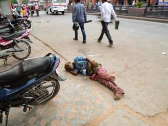 Obdachlose Schlafen Straße Jaipur