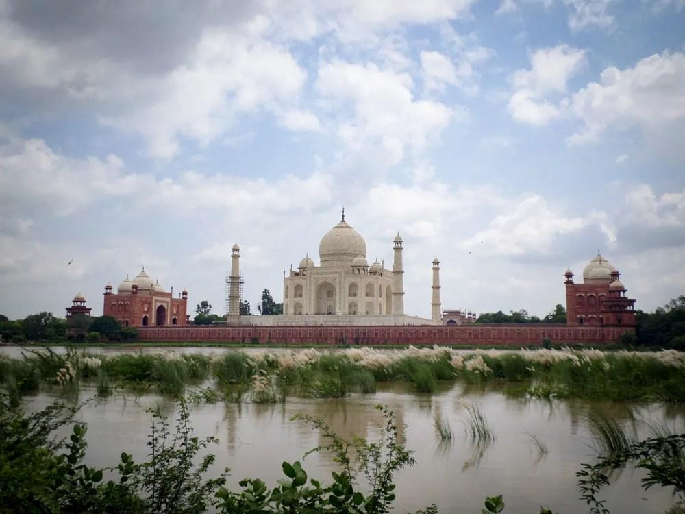 Taj Mahal Fluss Agra