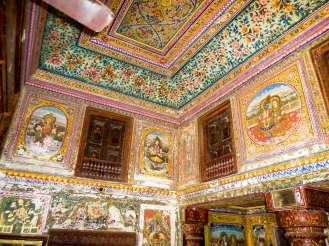 Wand Golden Painted Haveli