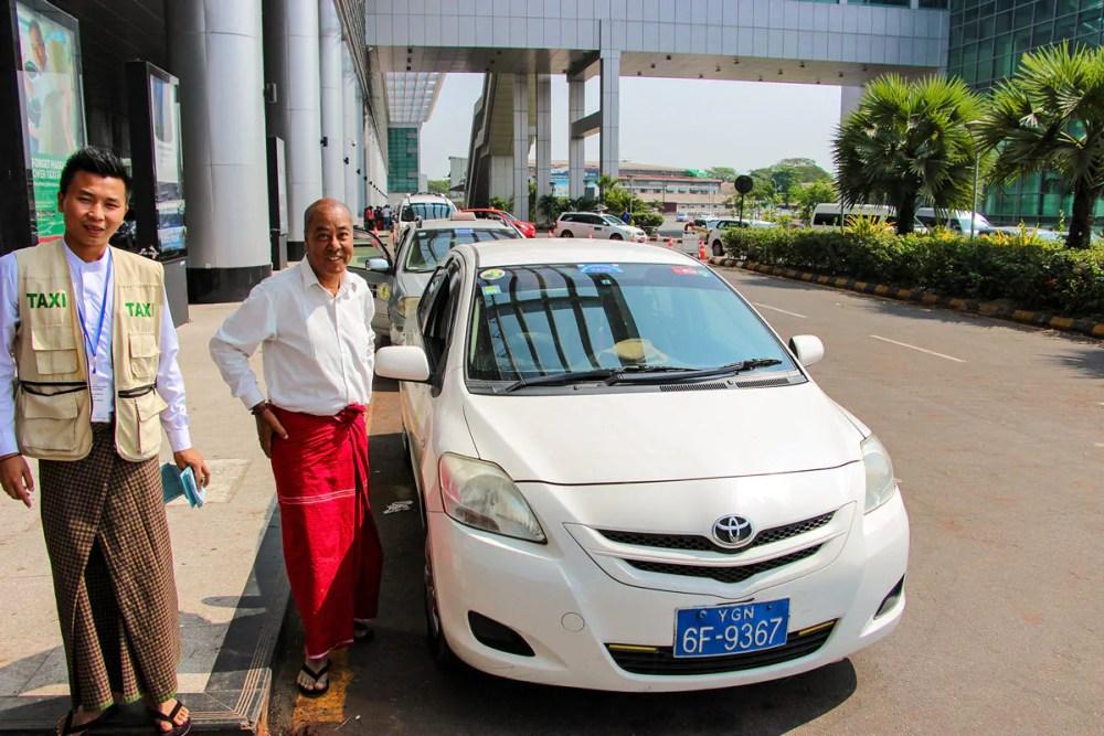 Taxifahrer Yangon