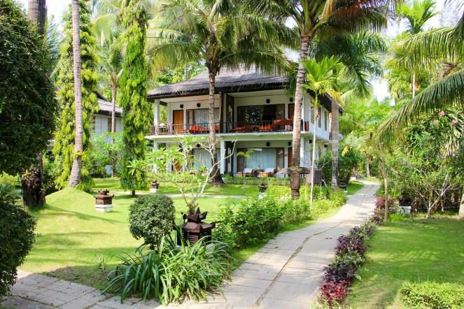 Gartenanlage Thande Beach Hotel Ngapali