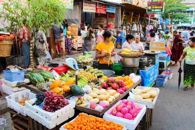 Gemüsestand Yangon
