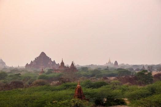 Aussicht Sonnenuntergang Tempel Bagan