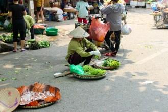 Straßenmarkt in Hanoi