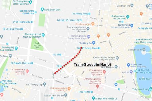 Train Street Hanoi Map
