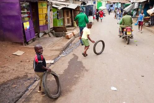 Armenviertel Nairobi Mathare