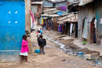 Kinder Mathare Slum