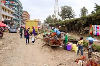 Straße Mathare Slum