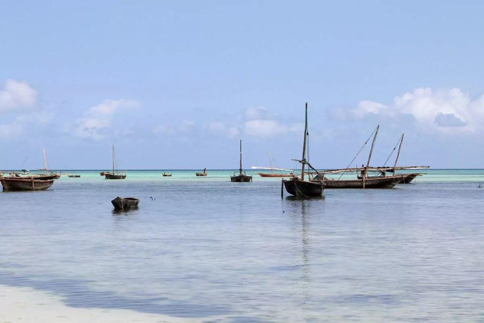 Fischerboote Nungwi Beach