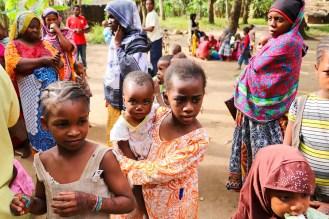 Mädchen Dorf Sansibar