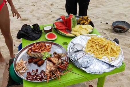 Mittagessen Nakupenda Beach