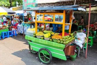 Obst Verkäufer Yangon