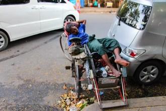 Rikschafahrer Yangon