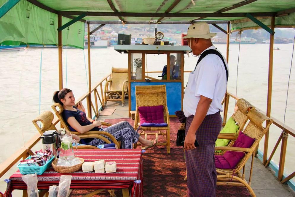 Bootsfahrt Mandalay Mingun