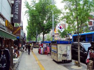 Shopping Straße Itaewon