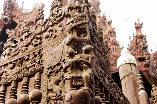 Holzschnitte Shwe In Bin Kloster