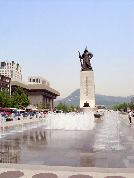 Statue Admiral Yi Sun-sin Gwanghwamun Platz