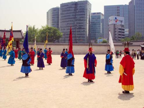 Wachablösung Gyeongbokgung Palast