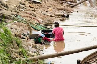 Wäsche waschen Irrawaddy