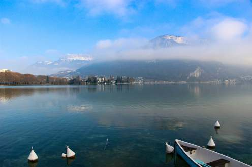 Lac d´Annecy im Winter