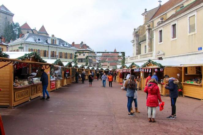 Weihnachtsmarkt in Annecy