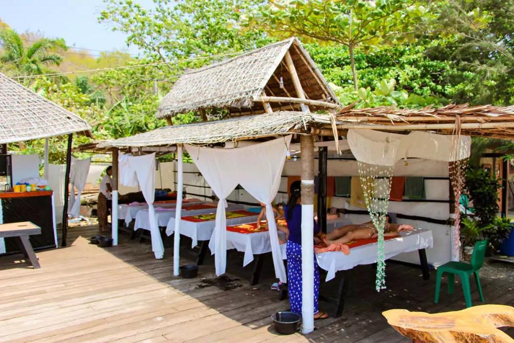 Massage auf Ngapali Beach