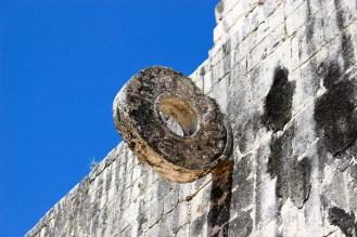 Steinring am Ballspielplatz von Chichen Itza