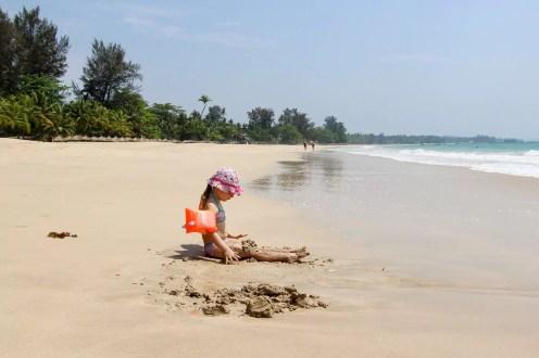 Strand auf Ngapali auch für Kinder geeignet