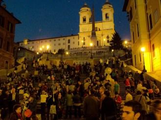 Spanische Treppe am Abend in Rom