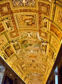 Wandmalerei in den Vatikanischen Museen_rom