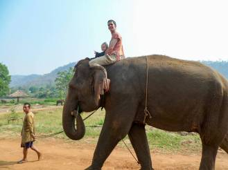 Elefantenreiten in Chiang Mai bei Rang-Tong Save & Rescue Elephant Centre