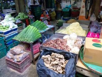Gemüse auf dem Pak Khlong Talad Markt